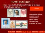 stamp fun quiz f1