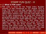 stamp fun quiz h1
