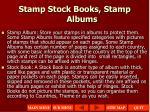 stamp stock books stamp albums