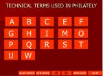 technical terms used in philately