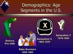 demographics age segments in the u s