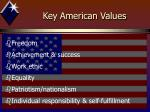key american values
