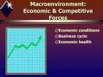 macroenvironment economic competitive forces1