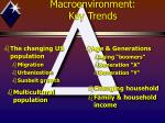 macroenvironment key trends