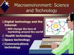 macroenvironment science and technology