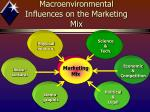 macroenvironmental influences on the marketing mix
