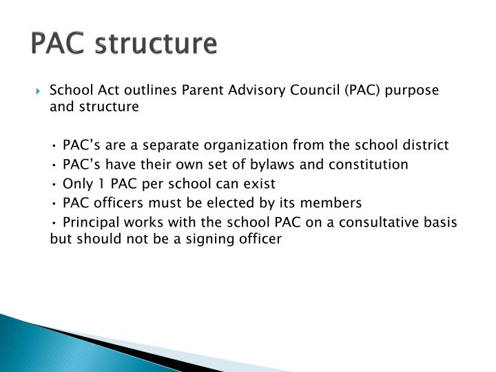 Pac structure
