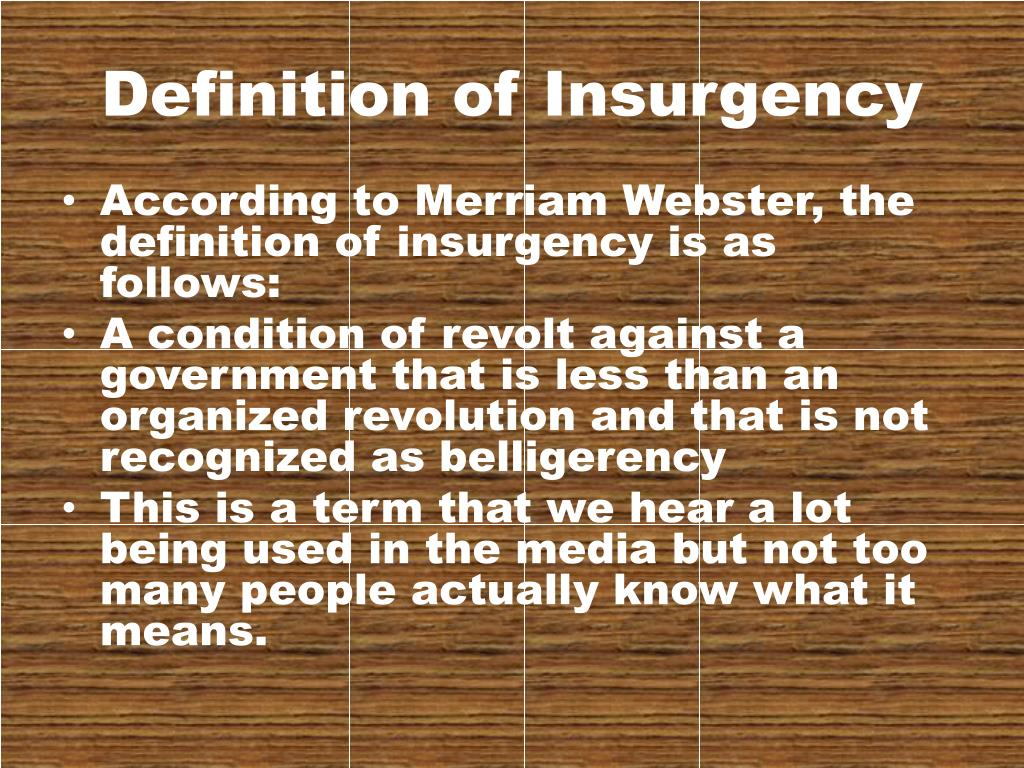 PPT - The Impact of Insurgency on American Interests