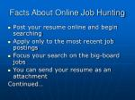 facts about online job hunting