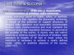 last year s success