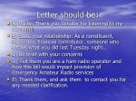 letter should be