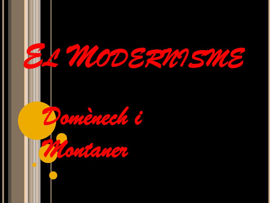 el modernisme l.