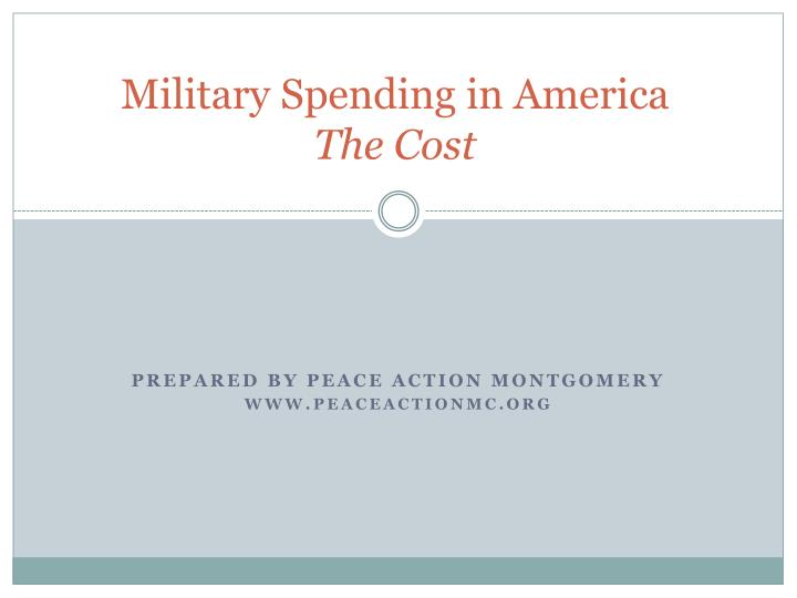military spending in america the cost n.