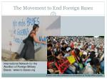 the movement to end foreign bases