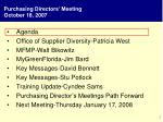purchasing directors meeting october 18 2007