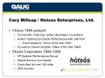 cary millsap hotsos enterprises ltd