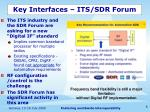 key interfaces its sdr forum