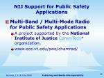 nij support for public safety applications