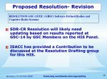 proposed resolution revision