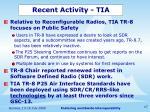recent activity tia