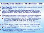 reconfigurable radios the problem its