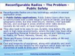 reconfigurable radios the problem public safety