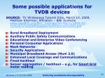 some possible applications for tvdb devices