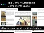 mid century storefronts components guide