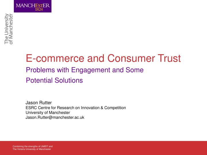 e commerce and consumer trust n.