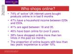 who shops online