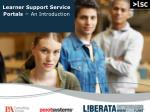 learner support service portals an introduction