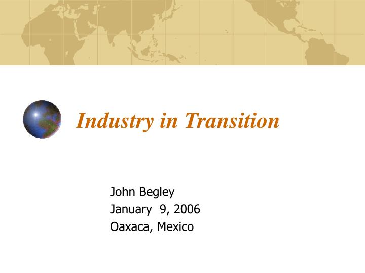 industry in transition n.