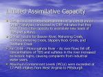 limited assimilative capacity