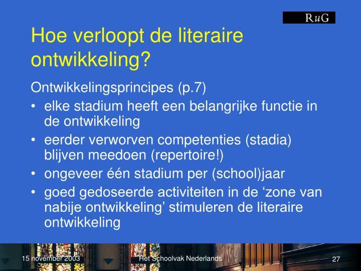 Hoe verloopt de literaire ontwikkeling?