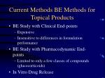 current methods be methods for topical products