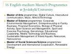 16 english medium master s programmes at jyv skyl university