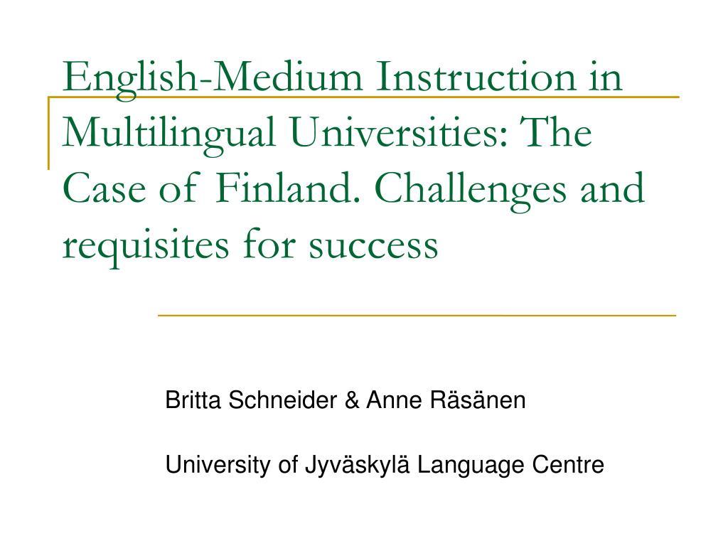 britta schneider anne r s nen university of jyv skyl language centre