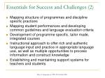 essentials for success and challenges 2