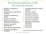 the internationalization of he the rationales behind