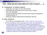 irs what do we know about fy 2011 focus 1
