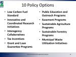 10 policy options