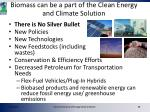 biomass can be a part of the clean energy and climate solution