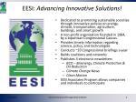 eesi advancing innovative solutions