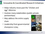 innovative coordinated research initiatives1