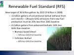 renewable fuel standard rfs