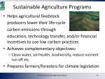 sustainable agriculture programs