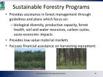 sustainable forestry programs
