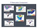 p attenuation comparison