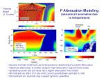 p attenuation modeling assume all anomalies due to temperature