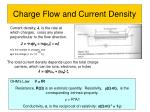charge flow and current density